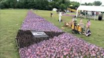 Vietnam vets set up memorial for Flag Day in Levittown