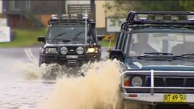 Homes evacuated by floods
