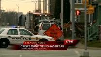 Broken gas meter forces evacuations in Racine