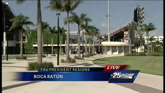 'Perfect storm' prompted resignation, FAU board of trustees chairman says