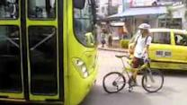 Cyclist Loses in Clash With Bus Driver