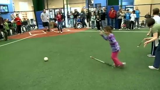 'Beep ball' lets visually impaired kids play
