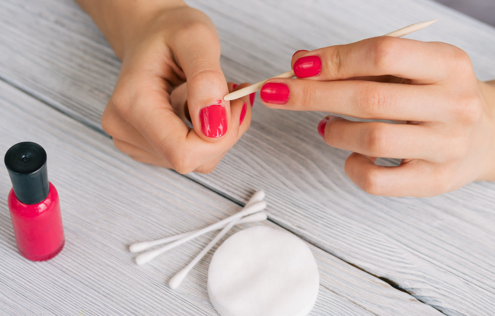 24% of Brits use cotton buds to fix any manicure mishaps [Photo: Getty]