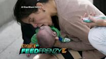 Feed Frenzy: Shocking Moment When Woman Saves Infant