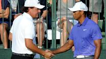 Early Highlights: Tiger/Phil battle; plus leaders