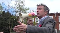Steve Coogan forgets his party while on Labour campaign