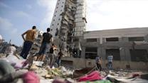 Gaza High Rises Destroyed in Israeli Airstrikes