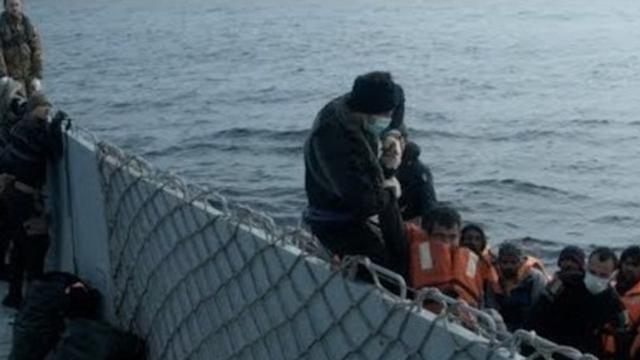 Italian Navy Rescues Migrants Crossing Mediterranean