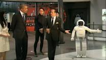 Obama Challenged by Humanoid Robot in Soccer