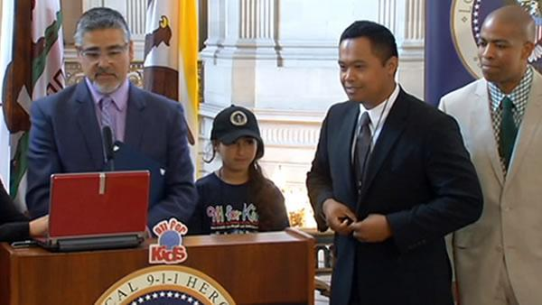 Kids in SF honored for saving lives by dialing 911