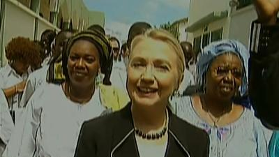 Clinton Promotes Democracy in Africa