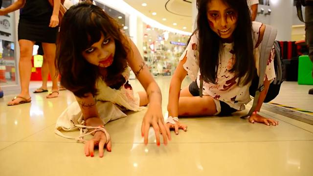 Zombies take over The Cathay mall in Singapore