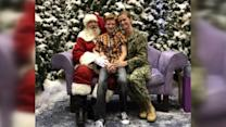 Navy Mom Surprises Son While Taking Santa Photo at Mall