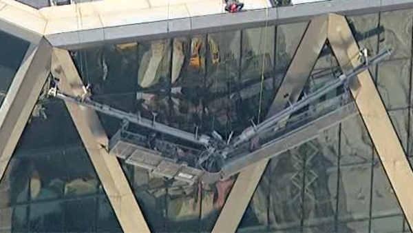 Workers rescued after scaffold collapse in Midtown