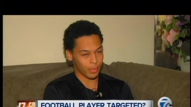 Football player targeted in Westland?