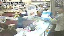Store Owner Fights Back Against Half A Dozen Thieves