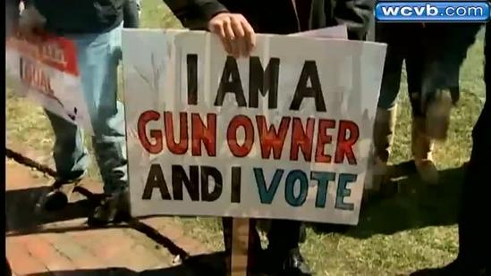 Gun owners rally in Boston