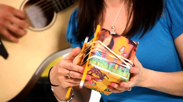 How to Make a Cardboard Box Guitar, Part 2 | Musical Instruments for Kids