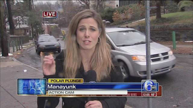 Katherine Scott on freeze preps in Manayunk