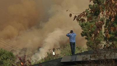 Structures Burn in Southern California Wildfire