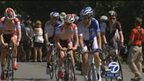 Cyclists battle intense heat in Tour of California