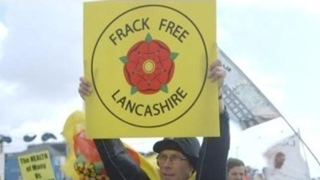 Hundreds of Protesters Gather in Blackpool for Anti-Fracking Demonstration