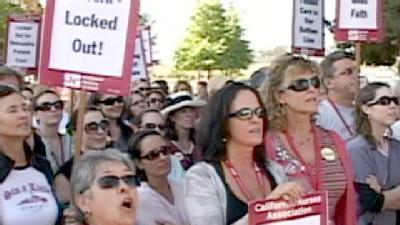 Watsonville Nurses Locked Out For Second Day After Strike