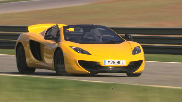 Hot lap in a McLaren 12C Spider