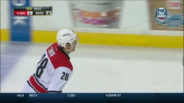 Semin's wrister deflects past Johnson