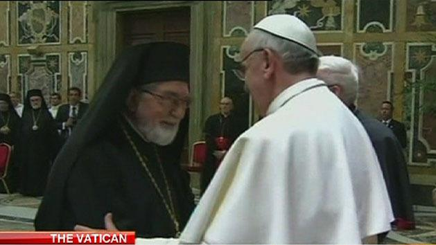 Pope meets religious leaders