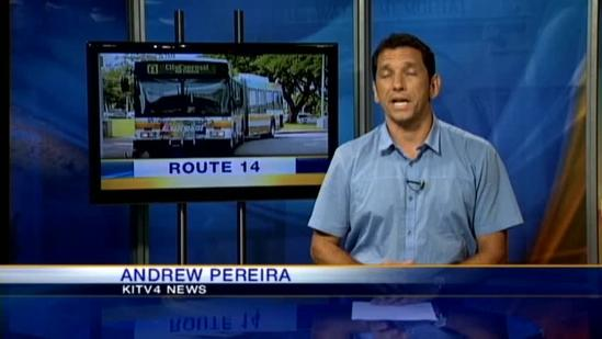 City bus route 14 returns to normal routine