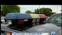 Dad accused of causing drunk driving crash with son in car