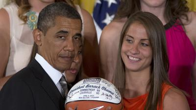 Obama Jokes With NCAA Women's Basketball Champs