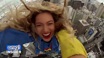 Wow! Watch Beyoncé Jump Off a Building