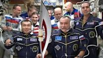Olympic torch lands on International Space Station
