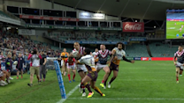 Kenny-Dowall scores ridiculous Roosters try