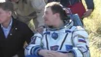 Soyuz astronauts return to Earth