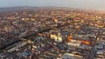 Aerial Video Reveals Dublin City at Sunrise