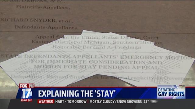 WXMI: Explaining the `Stay` in Michigan`s Gay Marriage Appeal