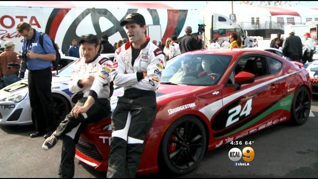Stars Practice For Next Week's Pro/Celebrity Race At Toyota Grand Prix