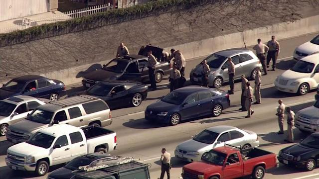 Suspects in custody after vehicle search on 110 North