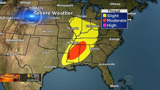 Severe weather threat: Millions still face intense rain and thunderstorms