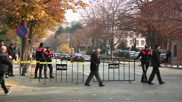 Man with fake bomb tries to breach Turkish PM's office