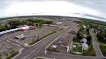 Aerial Video of Empty Moncton Streets During Search for Gunman