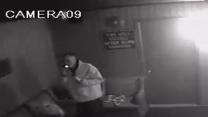 Raw: Jersey Shore Fire Suspect Caught on Tape