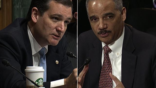 Cruz, Holder spar over potential drone strike on U.S. soil
