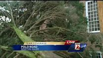 Trees block roadways in Winston-Salem