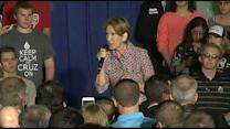 Carly Fiorina Falls Off Stage During Ted Cruz Rally
