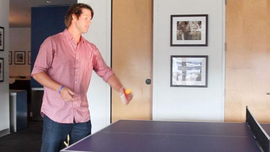 Celebs and Athletes Ping Pong 4 Clayton Kershaw