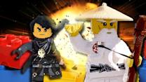 First Look at the New Ninjago Legoland | Giant LEGO NINJAGO Brick Battle!